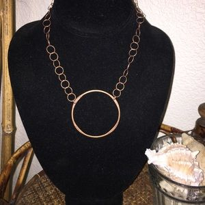 TINT Copper Circles Delicate Necklace